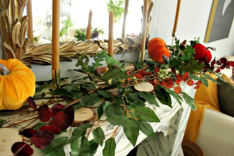 Φθινοπωρινή διακόσμηση τζακιού