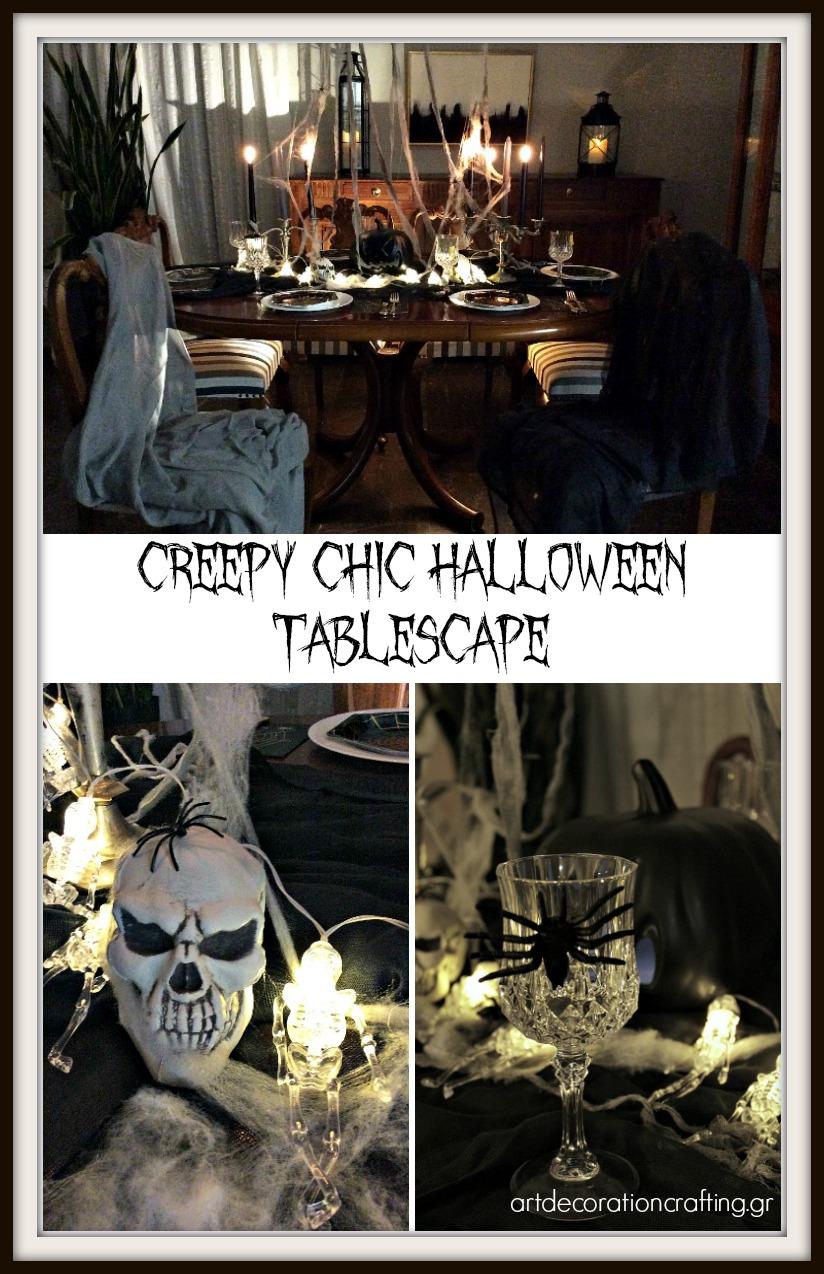 Πως να στρώσουμε ένα Halloween τραπέζι   How to set a creepy chic Halloween tablescape