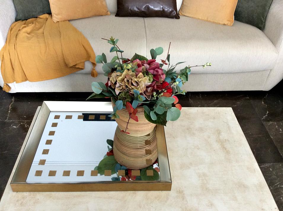 Πως να διακοσμήσεις τραπεζάκι σαλονιού, diy φθινοπωρινή σύνθεση λουλουδιών