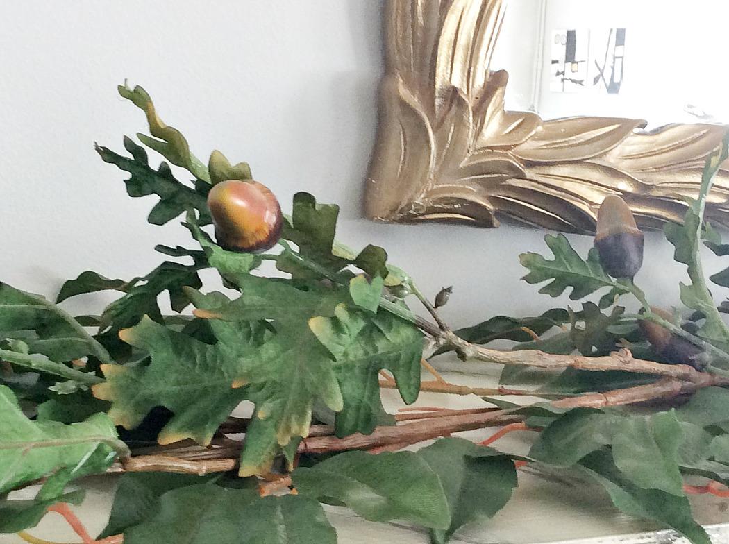 Κλαδιά βελανιδιάς, φθινοπωρινή διακόσμηση