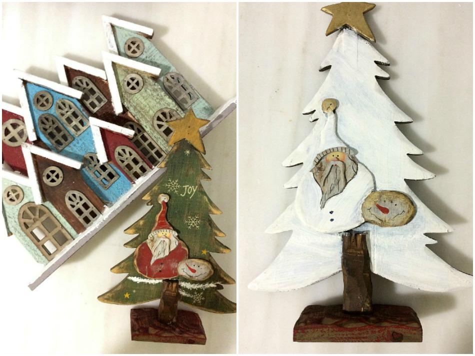 Παλιά ξύλινα χριστουγεννιάτικα διακοσμητικά