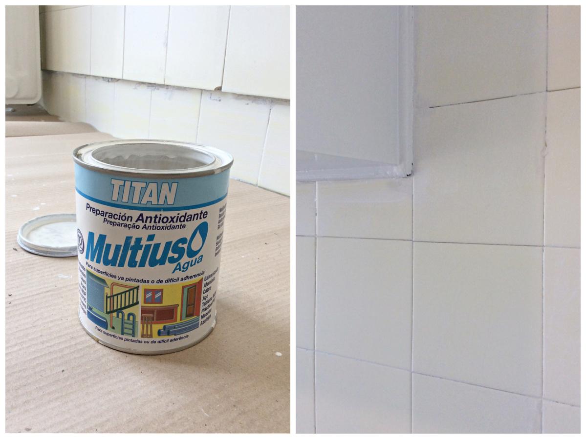 Πως να αλλάξω χρώμα στα πλακάκια της κουζίνας, primer Titan