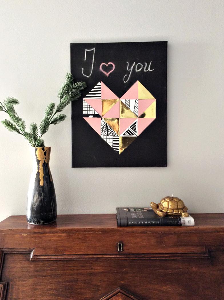 Γεωμετρική καρδιά από χαρτόνι