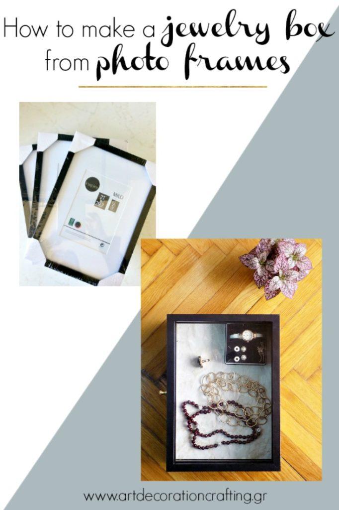 DIY Κοσμηματοθήκη από κορνίζες
