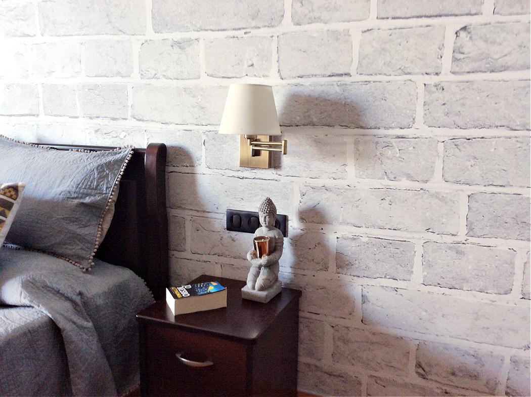 Διακόσμηση κρεβατοκάμαρας με ταπετσαρία Photowall, διακόσμηση κομοδίνου