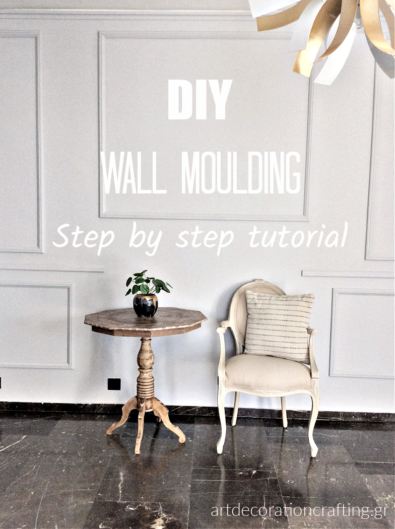 DIY wall moulding, step by step tutorial