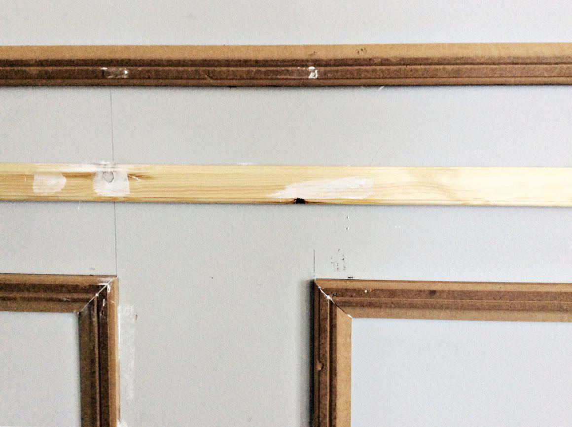 Προετοιμασία βάψιμο τοίχου με ξύλινα πηχάκια