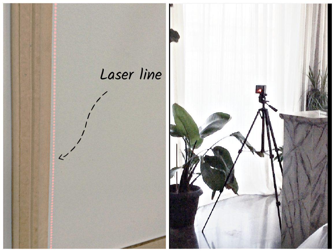 Σημάδεμα με laser για να τοποθετήσω τα πηχάκια
