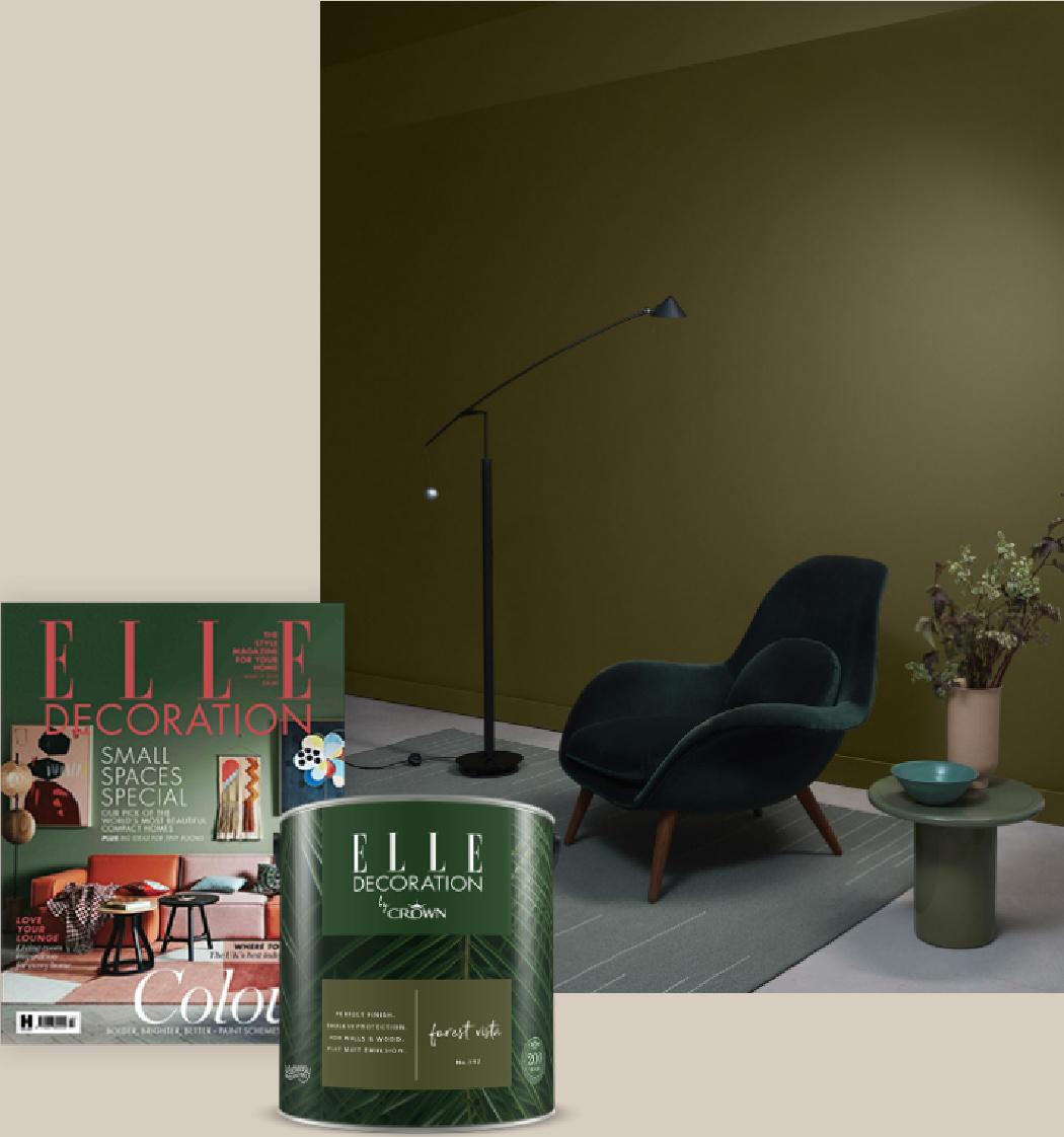 Χρώματα Crown σε συνεργασία με Elle Decoration