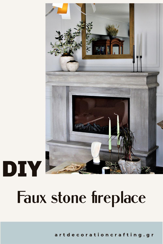 Faux stone fireplace diy