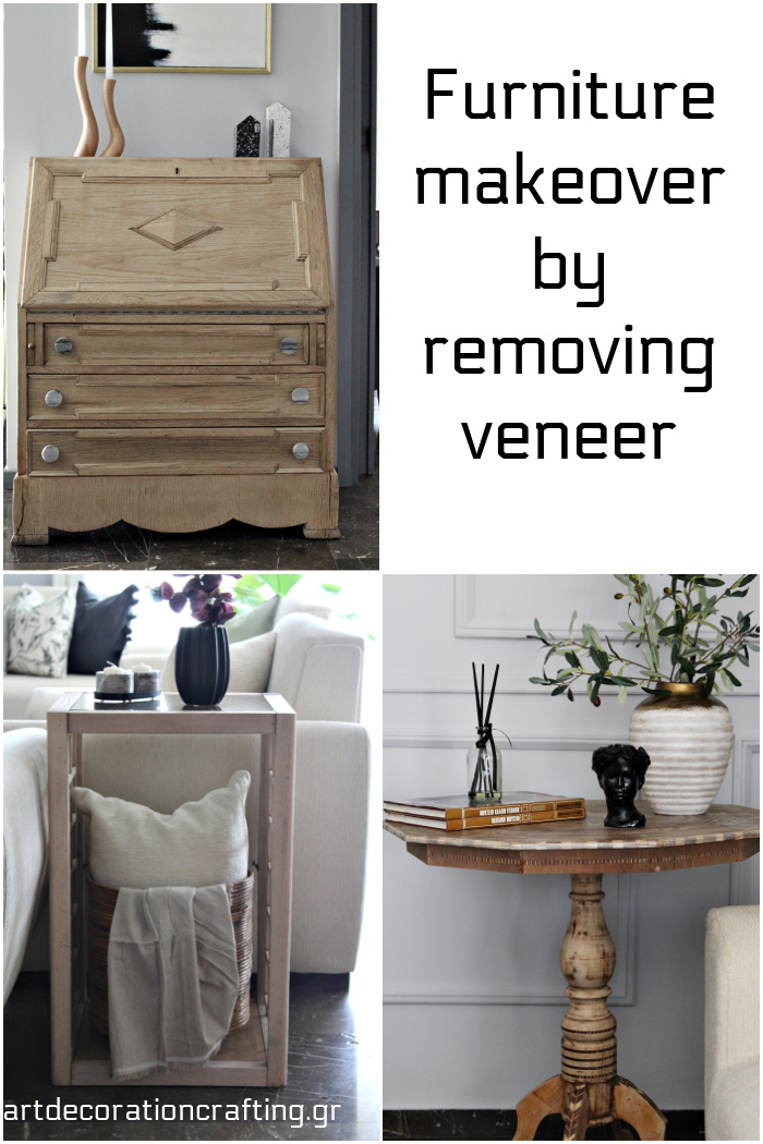 Furniture makeover by removing veneer