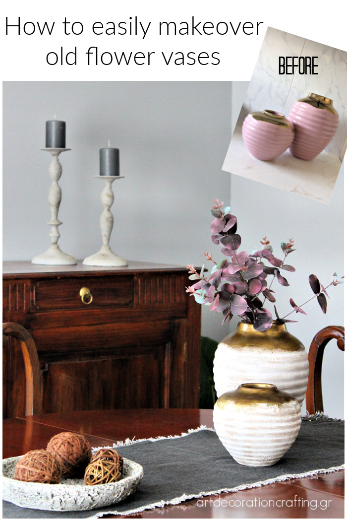 How to easily makeover old flower vases