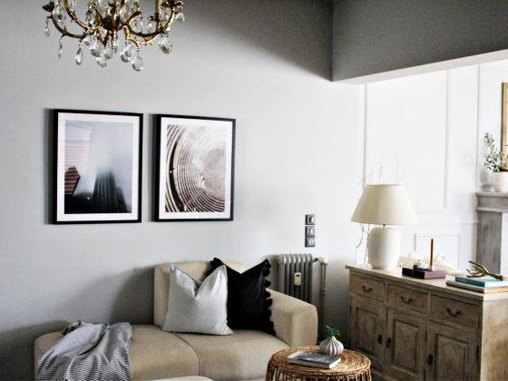 Διακόσμηση τοίχων στο σαλόνι με κάδρα από Filotechno