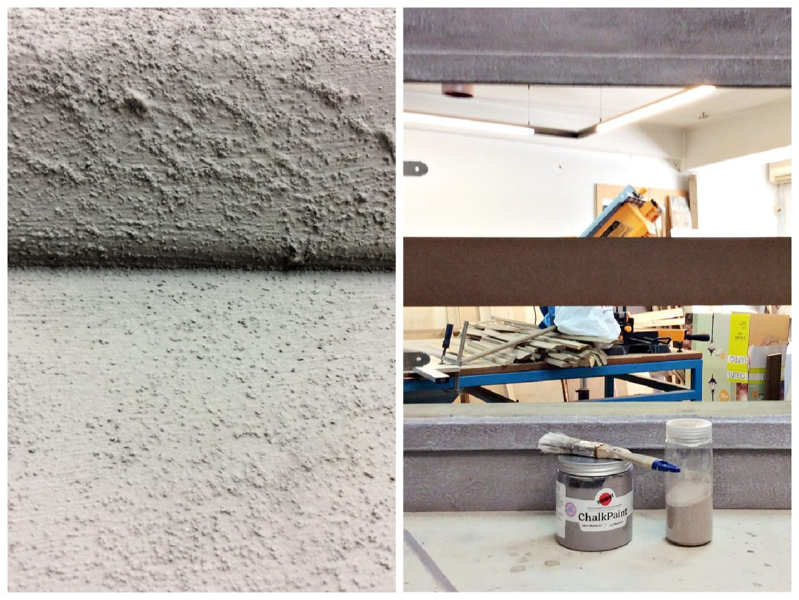 Κατασκευή τζακιού από mdf ξύλο και πως να το κάνεις να μοιάζει πέτρινο με χρώμα κιμωλίας και άμμο