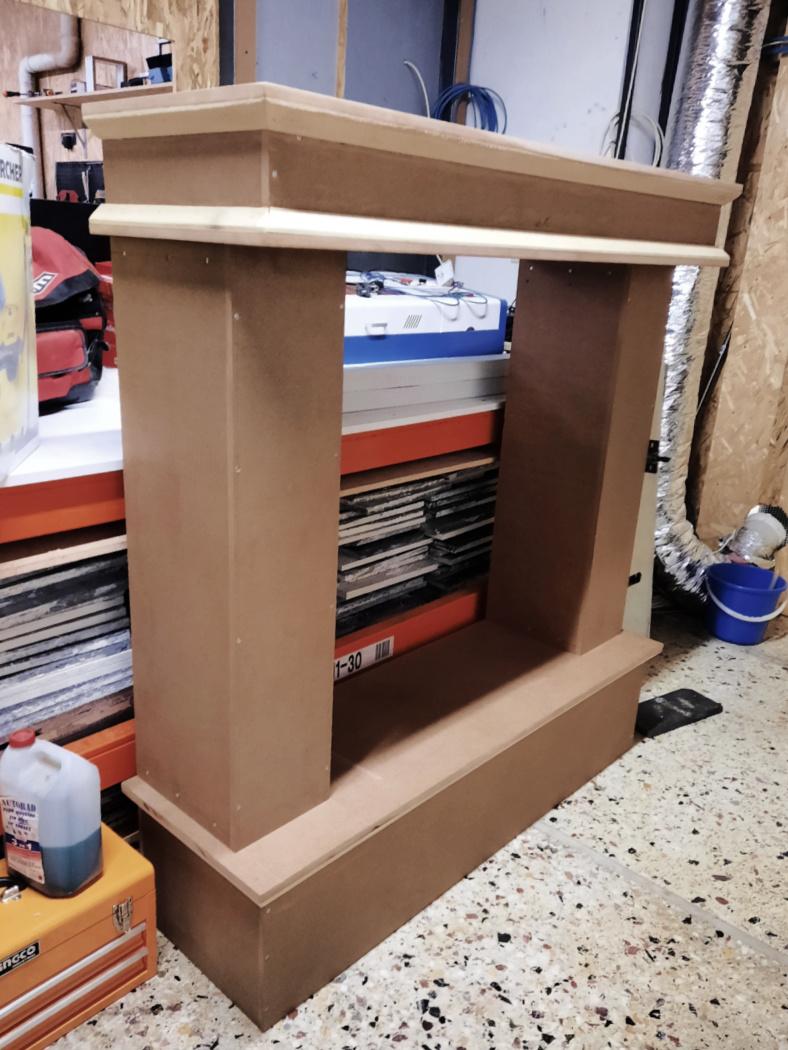 Πως να κατασκευάσεις ένα ξύλινο τζάκι, σκελετός τζακιού